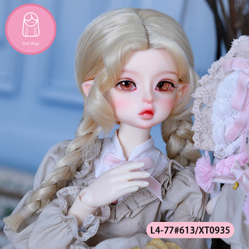 Wig For Doll BJD Wig 18-21cm Hair 1/4 high-temperature Natural wig Doll accessories MSD 1/4 bjd wig MNF 1