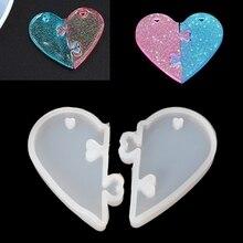 Любовь замки для любителей кулон силикон форма DIY эпоксидная смола форма ювелирные изделия инструменты R2LE