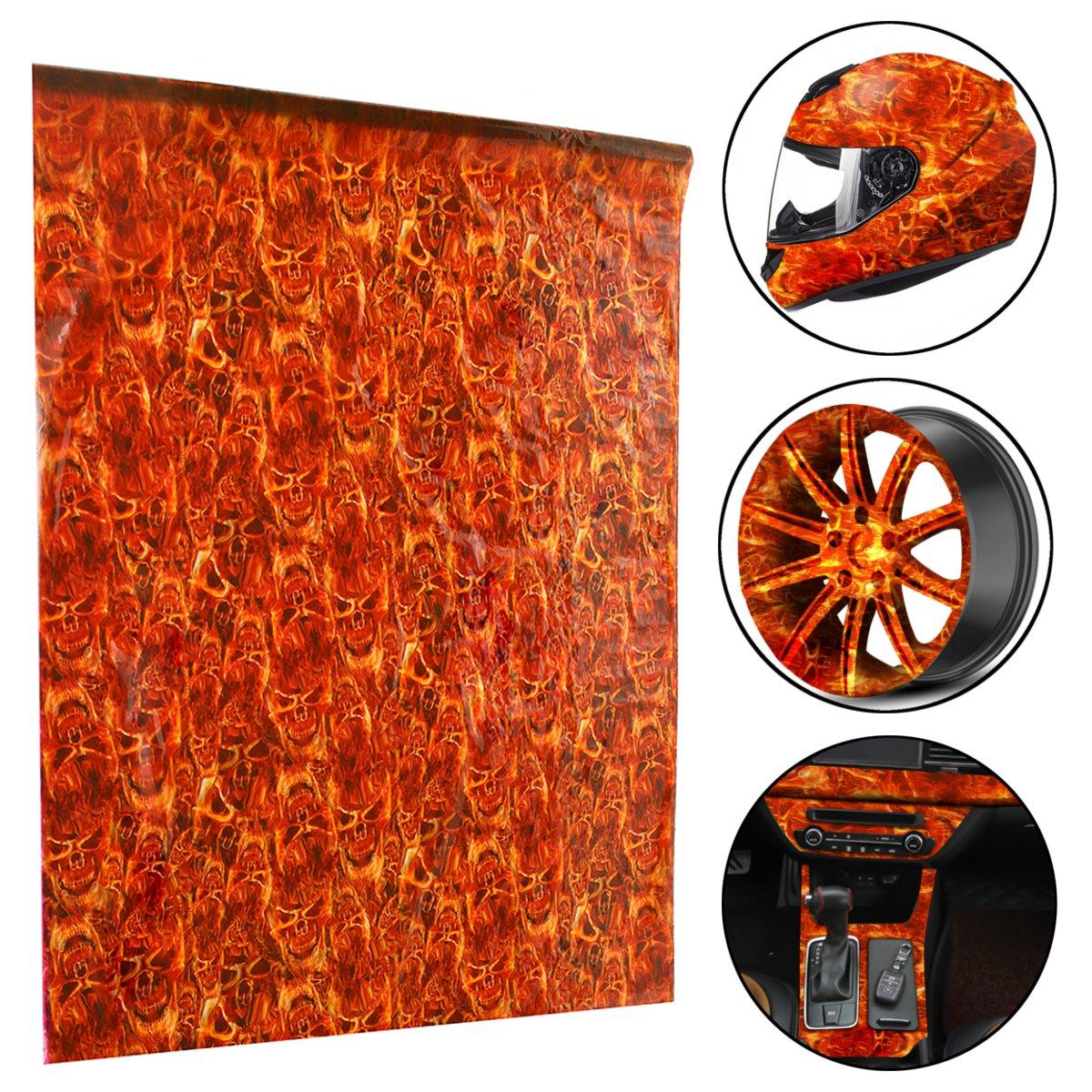 50x100cm Red PVA Hydrographic Film Water Transfer Printing Film Hydro Dip Decals Stickers