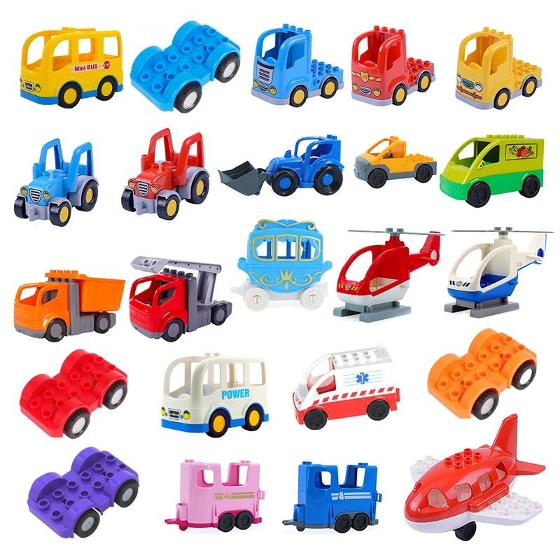 Блоки большого размера Запчасти детская игра сделай сам, строительные блоки, игрушки, инженерной машины грузовика Поезд Самолет Блок аксес...