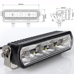 Image 2 - 6 Inch 20W Slim LED Work Light Bar Amber Fog Drive Lamps For Offroad Trucks Boat ATV 4x4 4WD Marine Trailer Driving Barra Lights