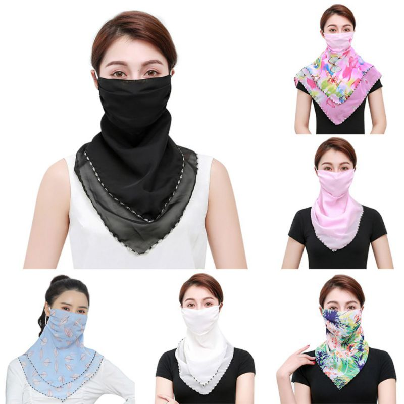 Outdoor Sport Neck Scarf Cycling Climbing Hiking Scarves Face Mask Multi-Functional Sunshade Dust-proof Wristband Hairband
