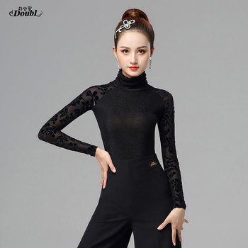 Latin dance spring autumn standard dance ballroom dance training dress morden dance fashion salsa chacha dance tops clothes dance dance dance