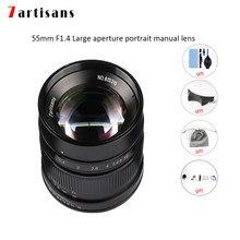 7artisans – objectif de caméra 55mm F1.4, grande ouverture, mise au point manuelle, micro objectif de caméra pour Leica T/TL/TL2/CL