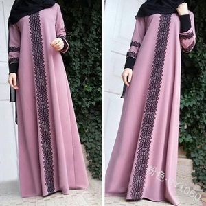 Wepbel Plus Size Long Sleeve Robe Turkish Printing Kimono Muslim Abaya Arab Dubai Women Long Dress Islamic Clothing S-5XL