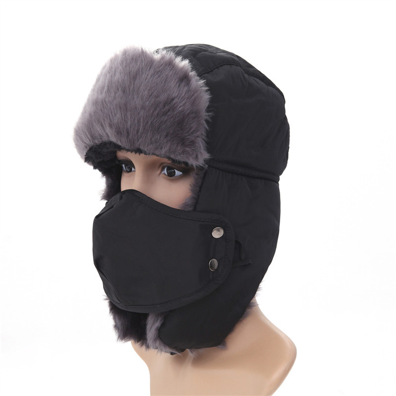 Hat Ushanka Winter WOMEN'S Waterproof Thick Warm Masks Supply Lining Small Wind-Resistant