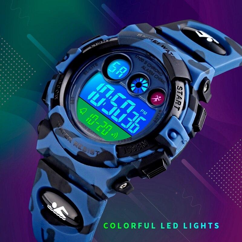 SKMEI 1547 детские часы цифровые часы водонепроницаемые спортивные наручные часы PU ремешок красочные часы детские часы Relogio Infantil 2019 Новинка