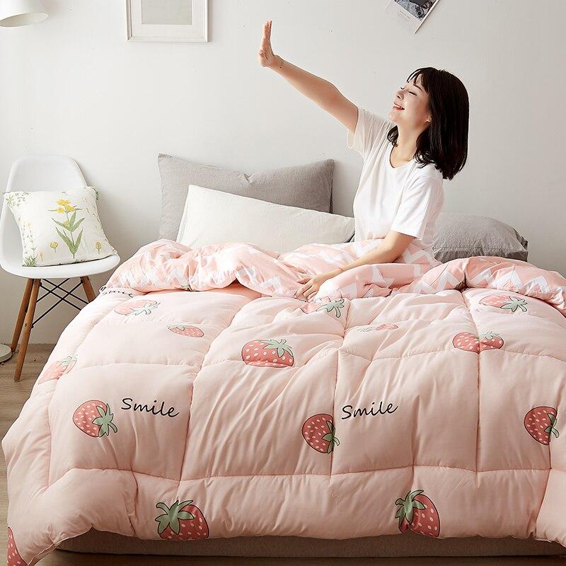 Hot Sales All-season Down Duvet Plush New Design Cotton Microfiber Fill Washable Duvet Hotel Home Twin/king Size Comforter Quilt