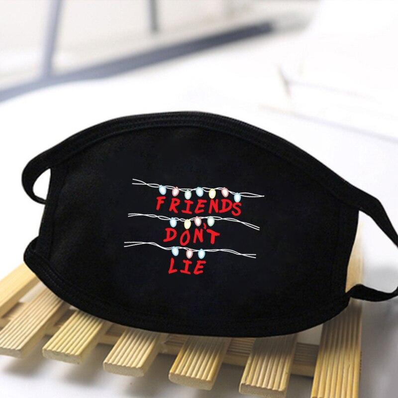 Unisex Stranger Things Print Masks High Quality Dustproof Masks Mouth Muffle Reusable Washable Black Mask Fashion Masks Mask