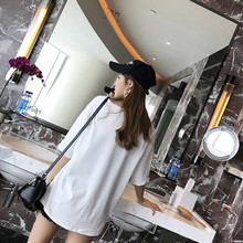 Women Summer Fashion T-Shirt Spring Cartoon Bottled Tops 2020 New Style Half Sleeve Hole Shirt O-Neck Student Shirt Female LZX6(China)