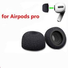 Сменные амбушюры с пеной памяти для Apple Airpods Pro, черный чехол для наушников, наушники с шумоподавлением