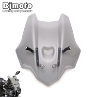BJMOTO Motorcycle Accessories For Yamaha FZ10/MT10 2016 2017 scooter Windscreen Windshield with bracket Naked Sport Windscreen