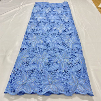 Swiss lace fabric 2020 heavy beaded embroidery African lace fabrics 100% cotton Dry lace Swiss voile lace in Switzerland 3L12265