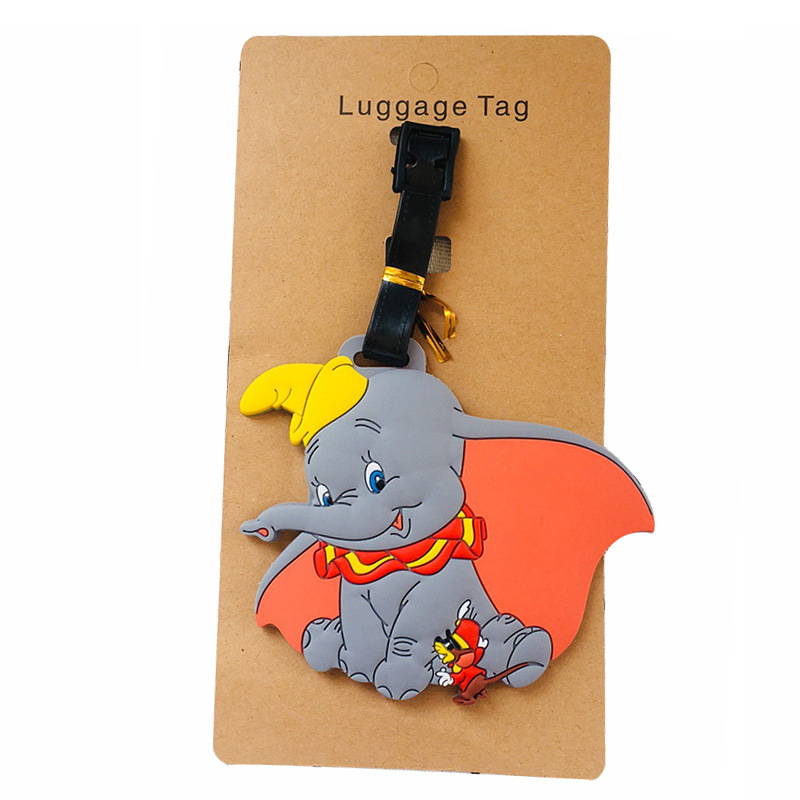 Dumbo New Cartoon Elephant Luggage Tags Silicon Name ID Travel Suitcase Handbag Tag Accessories Portable Label Gift