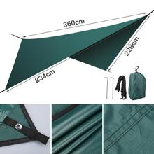 Yeahmart 1 Set Waterproof Portable Sun Shade Sail Awning Outdoor Shade Garden Patio Car Sunscreen Awning Canopy UV Block Green