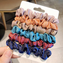 4-6Pcs/Lot scrunchie pack Elastic Hair Bands Tie Ponytail Holder Rubber Scrunchies Headband For Girl Women Hair Accessories(China)