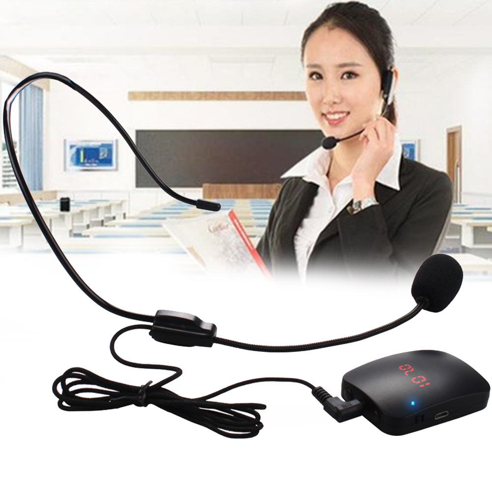 Portable Wireless Lightweight Microphone Tourist <font><b>Guide</b></font> FM Transmitter Multipurpose Loudspeaker <font><b>Car</b></font> Headset And Lapel Durable image