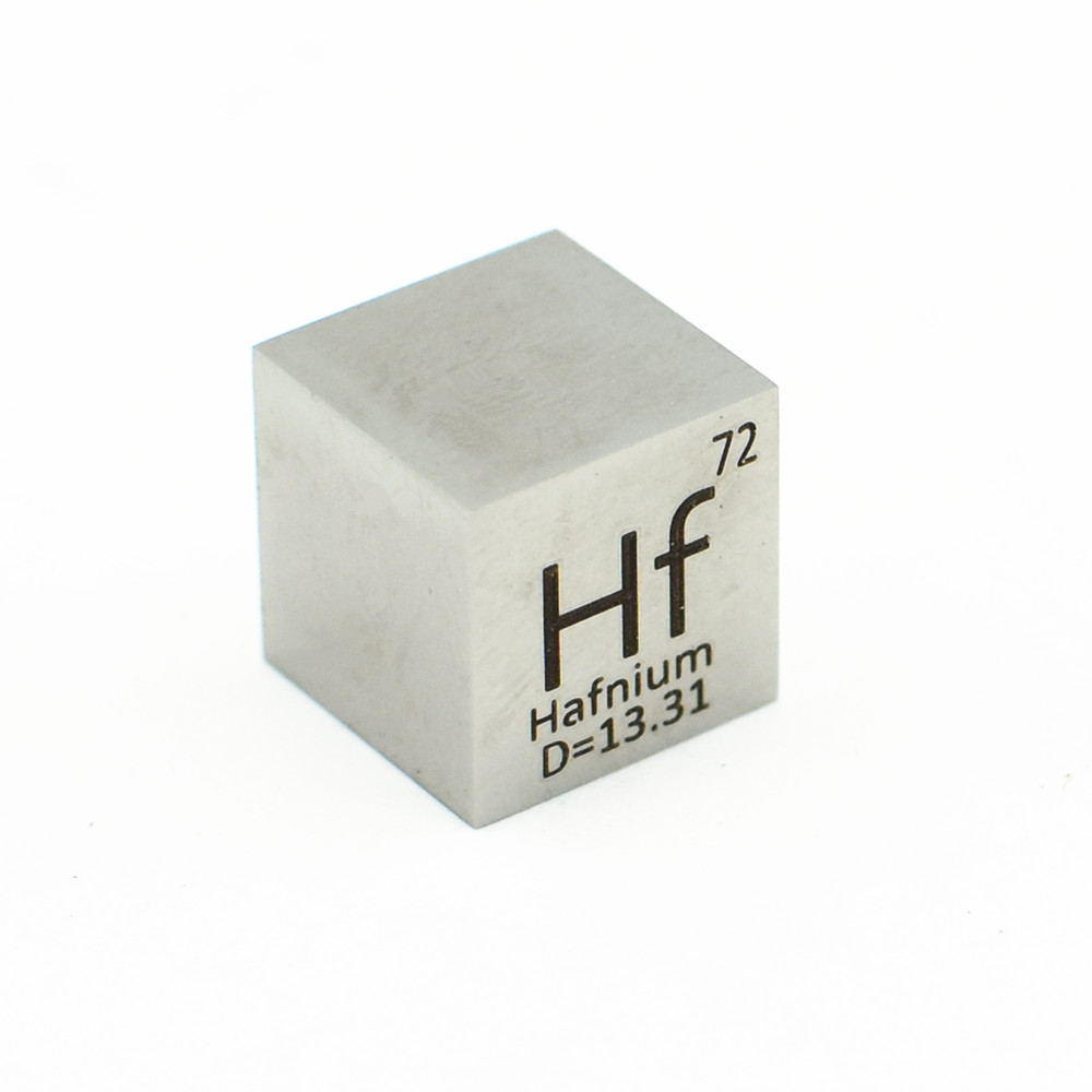 Mirror Polished Hafnium 10mm Cube For Element Collection Hf Density Block Hand Made DIY Hobbies Crafts Display