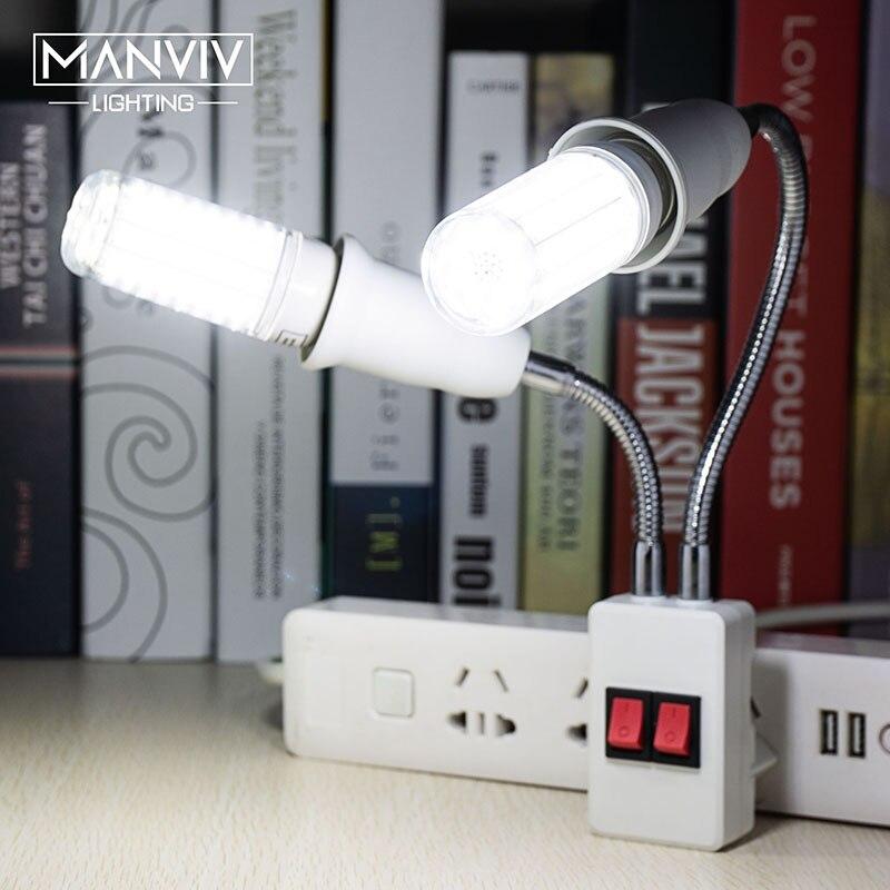Led e27 soquete suporte da lâmpada ue eua plug adaptador de extensão flexível 85-365 v diy para pingente lâmpada de mesa lâmpada de parede led base da lâmpada