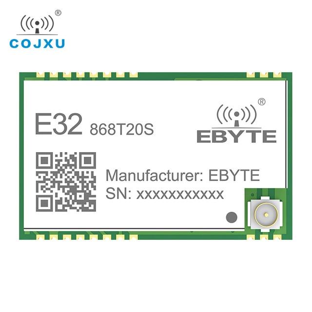 SX1276 868MHz 100mW 20 dBm SMD TTL E32 868T20S ebyte Wireless Transceiver Long Range 3km LoRa IPEX Transmitter and Receiver