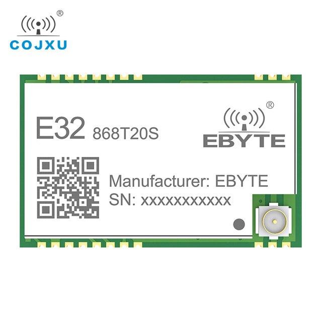 SX1276 868MHz 100mW 20 dBm SMD TTL E32 868T20S émetteur récepteur sans fil ebyte longue portée 3km LoRa IPEX émetteur et récepteur