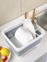 Factory direct sales foldable kitchen water bowl rack tableware storage box folding bowl rack tableware rack cup holder