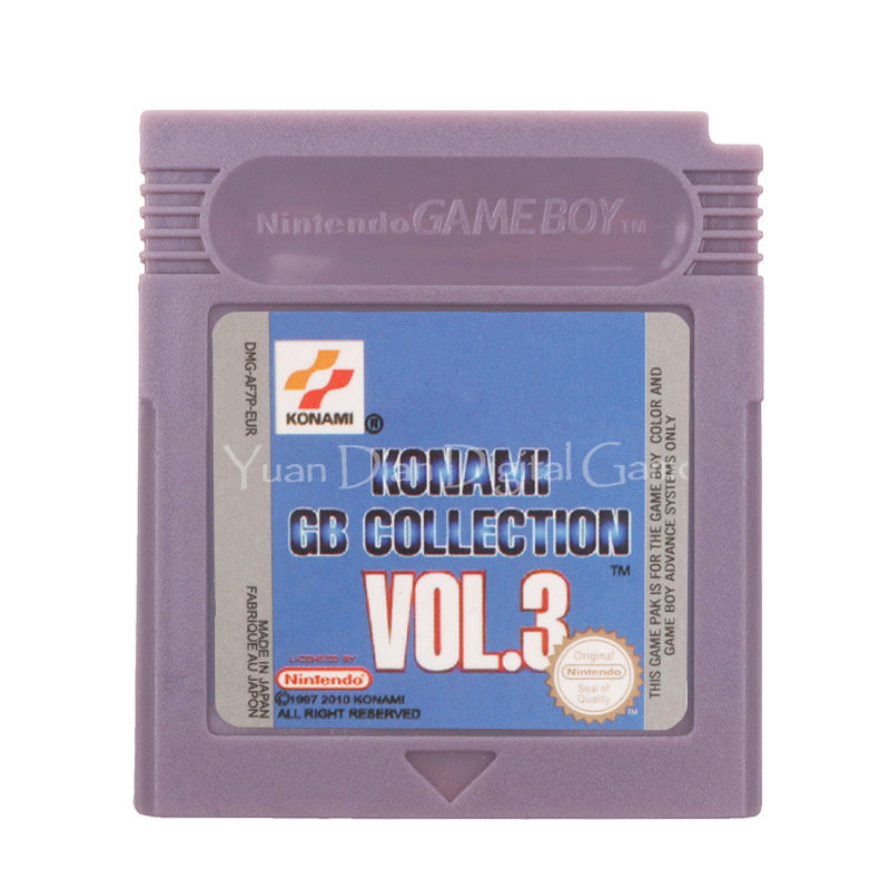 For Nintendo GBC Video Game Cartridge Console Card Konami GB Collection VOL.3 English Language Version