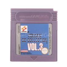 Para nintendo gbc jogo de vídeo cartucho console cartão konami gb coleção vol.3 versão em inglês