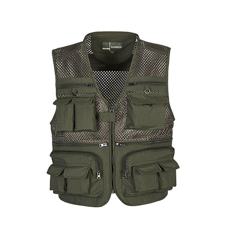 Уличные рыболовные жилеты быстросохнущие дышащие мульти карманные куртки в сеточку для фотосъемки Пешие прогулки зеленый военный жилет рыбий жилет fishing vest vest armyvest army green   АлиЭкспресс - Товары для рыбаков