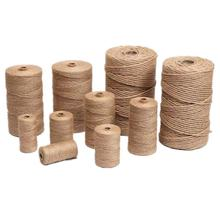 100M hessian hemp rope natural jute gift wrapping paper, Christmas and party supplies