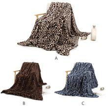 New Blanket Crystal Short Plush Nap Super Soft Cozy Modern Line Art Couch Travel Leopard Print Pad