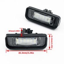 Luce di licenza a Led per Mercedes Benz W220 DC 12V 18 SMD 3528 numero di auto lampada a LED per Benz W220 99 05 luce targa auto