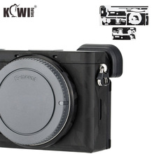 Kiwifotos アンチスクラッチカメラ本体カバープロテクターソニー A6600 ミラーレスカメラスキンシャドーブラック迷彩 3 メートルステッカー