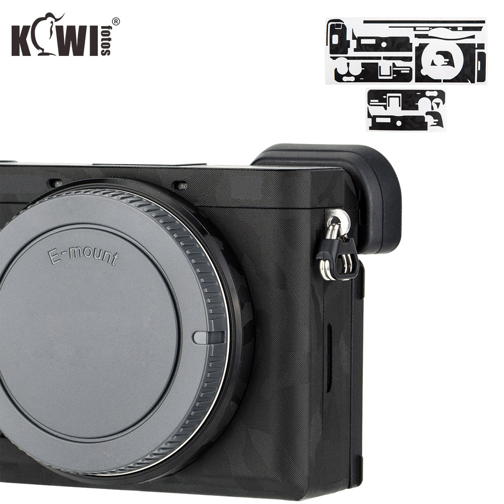 Kiwifotos Anti-Scratch Camera Body Cover Protector Film For Sony A6600 Mirrorless Camera Skin Shadow Black Camouflage 3M Sticker