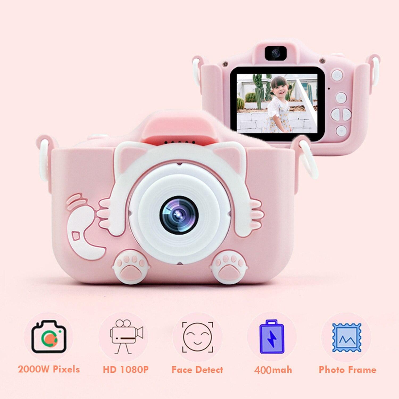 1080P 2000W מיני חמוד ילדים דיגיטלי למצלמות וידאו מצלמה צעצועי מובנה משחקים לילדים פעוט חג המולד יום הולדת מתנות