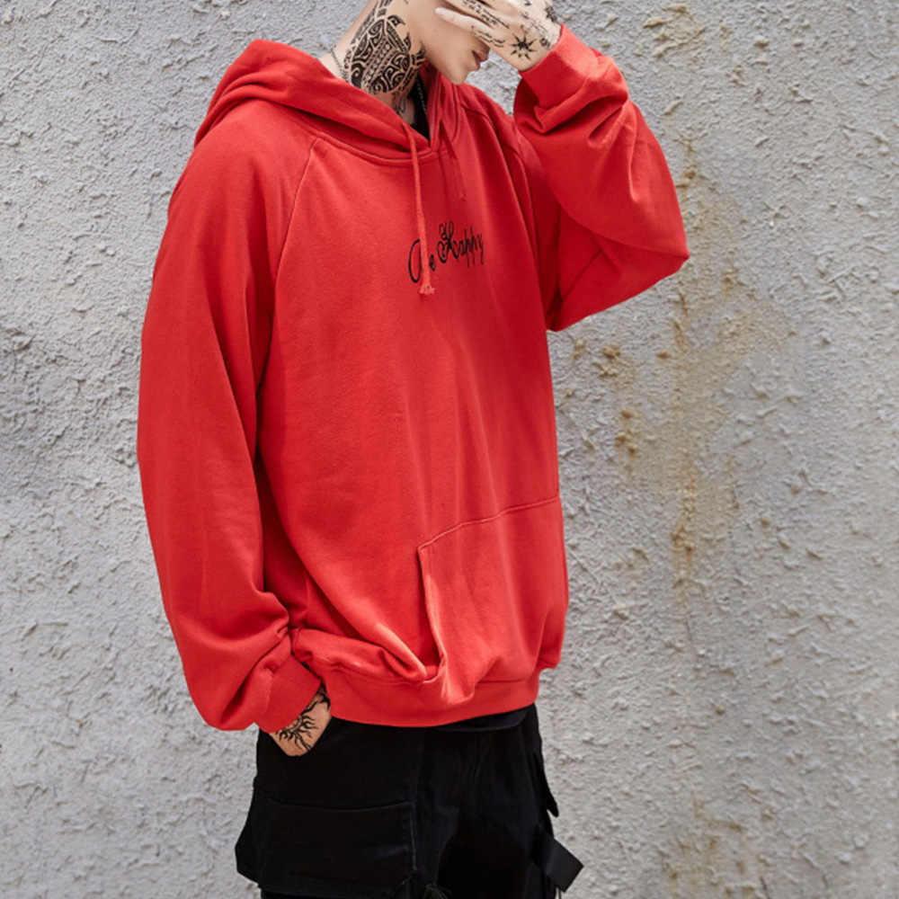 남성 후드 티 스웨터 해피 스마일 페이스 프린트 헤드웨어 까마귀 여성 패치 워크 후드 힙합 Streetwear 후드 풀오버