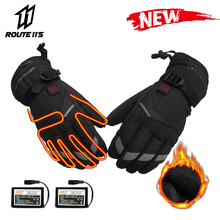 Motorcycle Gloves Waterproof Winter Moto Electric Heated Gloves Battery Powered Keep Warm Motorbike Racing Riding Heating Glove savior motorcycle heating gloves riding racing biking winter sports electric rechargeable battery heated warm gloves cycling