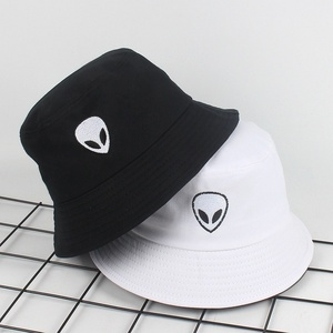 Unisex Embroidered Alien Foldable Bucket Hat Beach Sun Hat Street Headwear Fisherman Outdoor Cap Men and Woman Hat(China)
