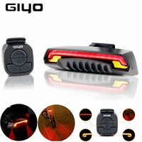GIYO USB Rechargeable Bicycle Lamp Rear Cycling Safety Bike Laser Tail Light Caution Rear Light Turn Signals Luz de ciclismo