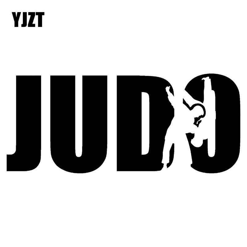 YJZT 18.8CM*8CM Judo Sports Wrestling Fighter Fashion Vinyl Stickers Decals Car-Styling Black/Silver C31-0222