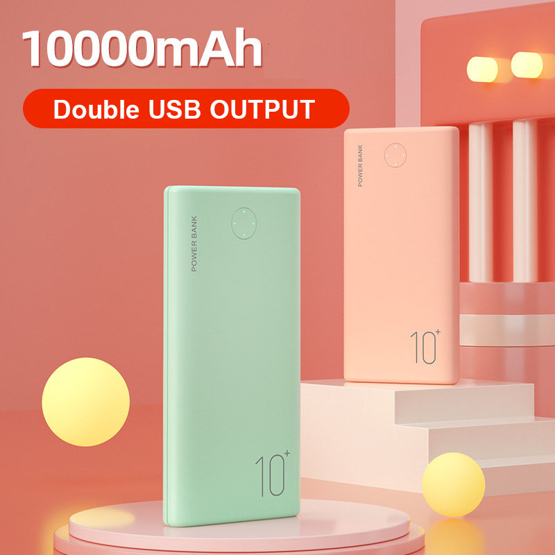 Portable Power Bank 10000mAh Mini External Battery Charger 2.1A FAST 5000mAh Poverbank Phone Charger For Smart Mobile Phone