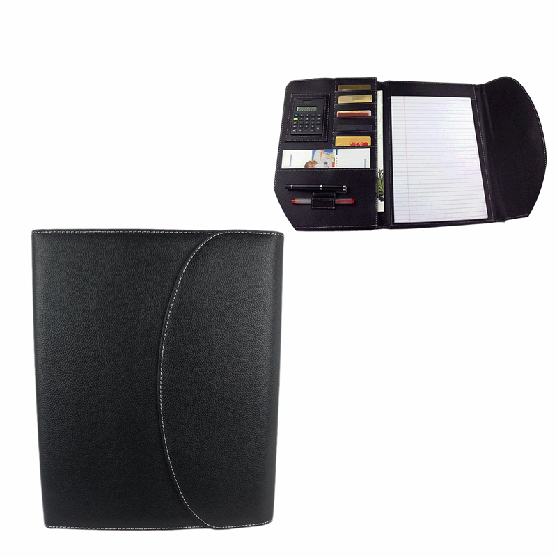 Multifunction File Folder A4 Pu Leather Conference Folder Letter Size Document Folders For Document Folder