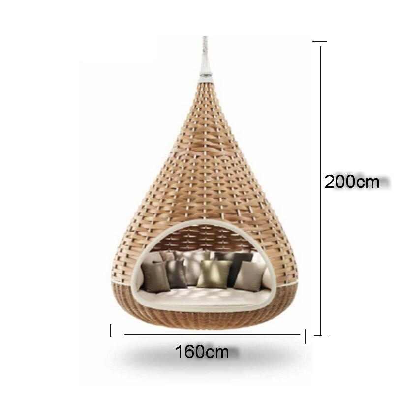 Tente extérieure, tente aérienne, hamac balançoire de jardin vigne cage à oiseaux hamac chaise en osier suspendu bleu berceau suspendu orchidée nichoir