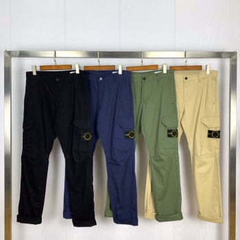 2020 Top Quality Compass Badge Embroidery Cargo Pants Men Women Military Straight Pants Multi Pocket Casual Cotton Trousers Men