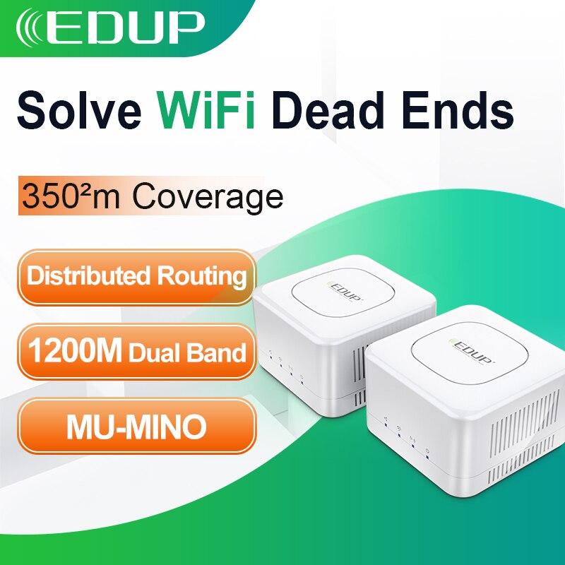 EDUP maison entière 1200M maille WIFI routeurs 2.4/5GHz WiFi Gigabit système AC1200 sans fil pont couverture amplificateurs APP Manag à distance