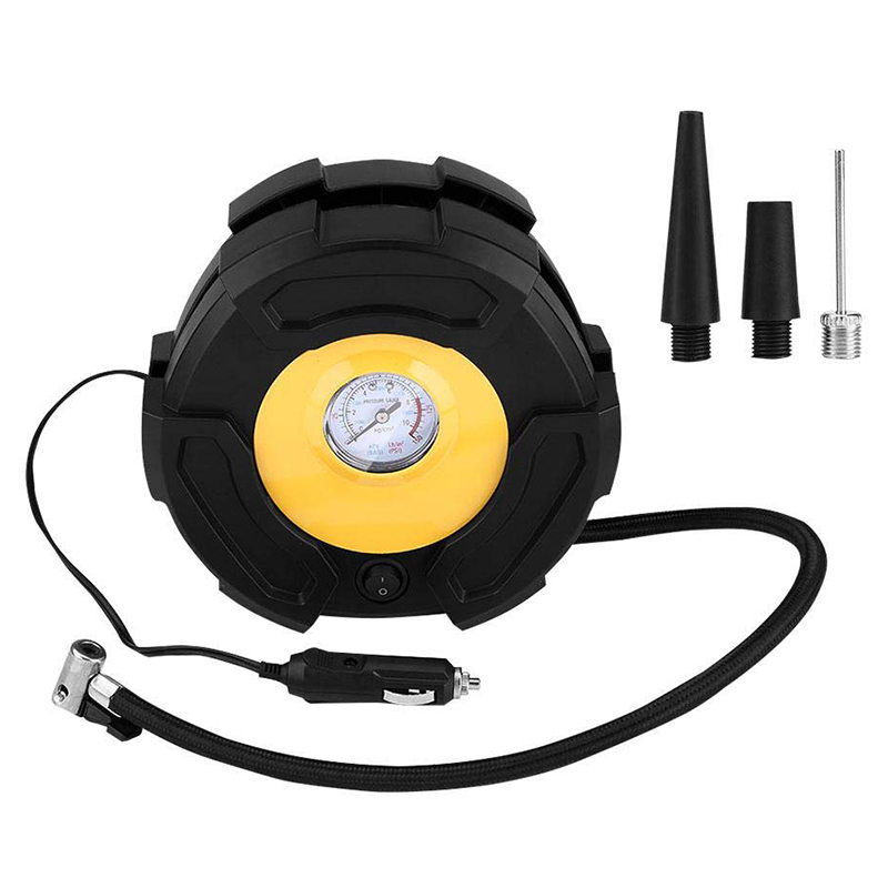 Car Tire Inflator 12V Portable Car Tire Inflator Air Compressor Pump 100 Psi With 3 Nozzles For Car Bike Ball Boat|Tire Accessories|   - title=
