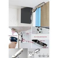 Кухонный шкафчик, сервант Лифт откидной клапан поддержка Мягкий Открытый закрыть кронштейн для опоры откидной крышки DTC тяжелый