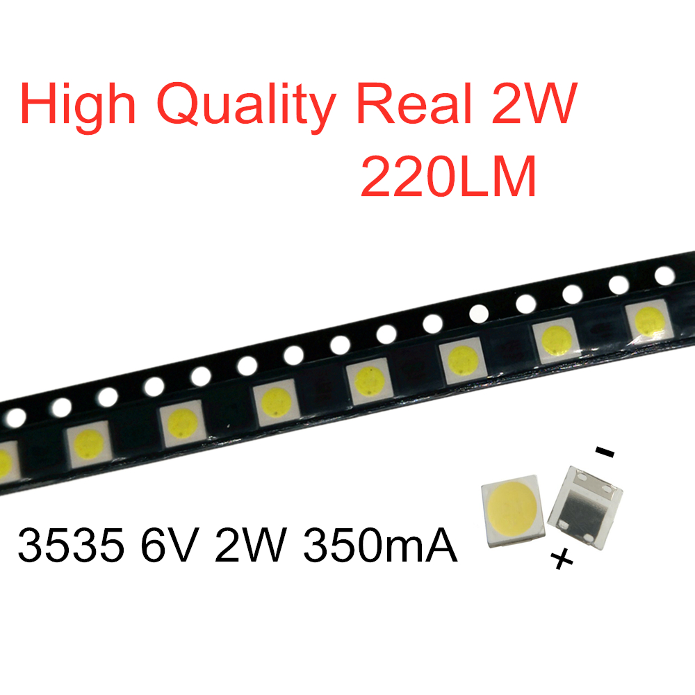100 1000PCS For LG 3535 2W 6V 350mA 220LM Cool white FOR LCD TV repair led TV backlight strip lights with light emitting diode|Diodes| - AliExpress