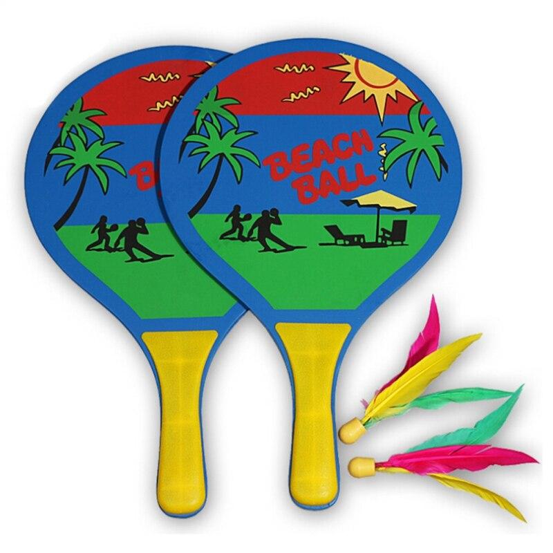 Board Badminton Racket Beach Racket Popular Wood Tennis Fun Paddles Home Entertainment Creative Cricket Shoot Fitness Set 1