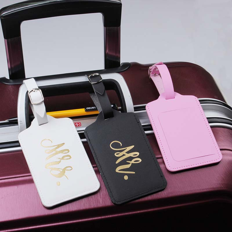 Mr&Mrs Suitcase Luggage Tag Bag Pendant Travel Accessories Name ID Address Wedding VIP Invitation Label
